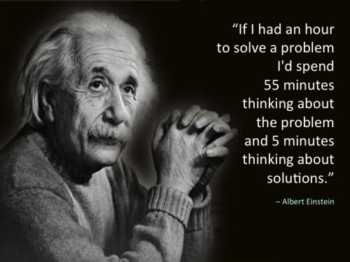 Citation Einstein - Problème Solution Innovation